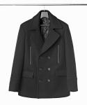 Black Double Pea Coat