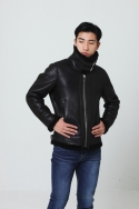 REAL BLACK MOUTON JACKET