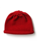 Knit Roll Beanie - Red