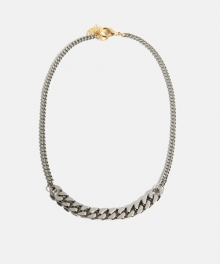 [usual M.E] Bold chain & thin chain necklace (2 colors)
