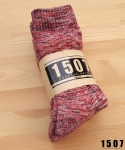 """1507 WORKSOCKS """"RED BROWN"""" 3PAIR. *묶음판매"""