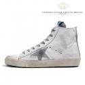 골든구스 맨즈 스니커즈 프란시 / G25U-591-G3 / GOLDEN GOOSE SNEAKERS FRANCY -White Silver Leather