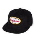 Engineer corduroy 5 panel cap black
