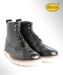 컬러콜라(COLOR COLLA) BLACK COW DUCK BOOTS