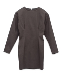 [MOHAN]VOLUME DART DRESS GRAY 모한