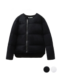 에이들 Collarless Duckdown Padding Jacket
