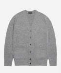 페이퍼리즘 LAMBSWOOL BASIC CARDIGAN [MEDIUM GREY]