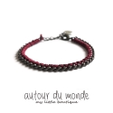 오뜨르 뒤 몽드(AUTOUR DU MONDE) TWISTED CHAIN BRACELET (BURGUNDY)