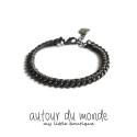 오뜨르 뒤 몽드(AUTOUR DU MONDE) TWISTED CHAIN BRACELET (DARK GRAY)