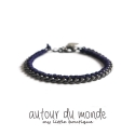 오뜨르 뒤 몽드(AUTOUR DU MONDE) TWISTED CHAIN BRACELET (NAVY)