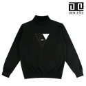 [DISCENE]디씬 Triangle 목폴라 긴팔티BLACK