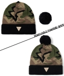 헤이터(HATER) 카모 블랙 방울 비니 Camo Removable Pom Black Beanie