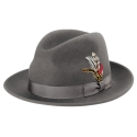뉴욕 햇(NEW YORK HAT CO.) 5319 LITE FELT FEDORA (GREY)