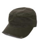 오토캡(OTTO CAP) Garment Washed Distressed Military Cap (Olive Green)
