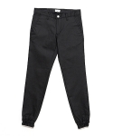 업스케일(UPSCALE) COATED BLACK DENIM JOGGER PANTS