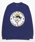 루블랑 Greedy Wolf Sweatshirt - Navy