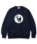 13 Black Cat Sweat Shirt Navy