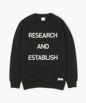 폴리그램(POLYGRAM) SLOGAN SWEATSHIRT (BLACK)