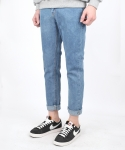 HIGH CUT WASHING DENIM L-BLUE
