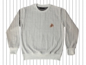 런디에스(RUNDS) RUNDS pinstripe pizza sweatshirt (light gray)
