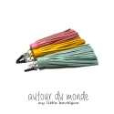 오뜨르 뒤 몽드(AUTOUR DU MONDE) LEATHER TASSEL EARCAP 2_LONG