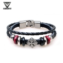 스베누 [스베누] BUCKLE LEATHER KNOT BRACELET