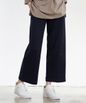 팀 스컬프터 바이 스컬프터(TEAM SCULPTOR BY SCULPTOR) COTTON WIDE PANTS[NAVY]