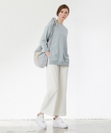 팀 스컬프터 바이 스컬프터(TEAM SCULPTOR BY SCULPTOR) COTTON WIDE PANTS[WHITE]