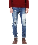 크래프티드(KRAFTED) Patchwork & Distressed Jeans