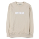 UTT 81 untage slim sweat shirts_beige(남여공용)