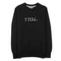 UTT 82 untage slim sweat shirts_black(남여공용)