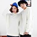 2015 S/S 플루크 남여공용 맨투맨 티셔츠 FM3041(WHITE)