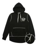 Heavyweight Side Zip Hoodie (Black)