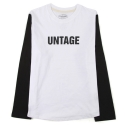 UBT 03 untage long sleeve_black(남여공용)