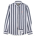 UMR 53  pixel anchor stripe shirts_navy(남여공용)