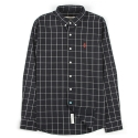 언티지 UTS 39  pixel anchor check shirts_navy(남여공용)