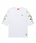MADNESS FLOWER FOOTBALL TEE (WHITE)