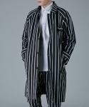 주로보로스 B&W stripe raglan cotton coat