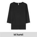보트넥 7부 루즈핏 BLACK (IK1FSSBF01)