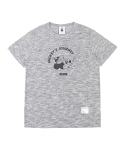 화이트블랭크레이블(WHITE BLANK LABEL) WHITE BLANK MICKEY SLUB TEES (GREY)