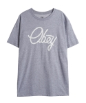 오베이 PREP. SCRIPT PREMIUM BASIC TEES HEATHER GREY
