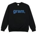 [리오그램] REOGRAM - GRAM LOGO SWEATSHIRTS (Black)