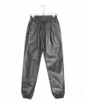 Coated Cotton Jogger Pants
