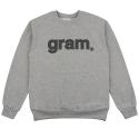 [리오그램] REOGRAM - GRAM LOGO SWEATSHIRTS (Melange Gray)