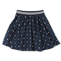 UWS 01 pixel teddy flare skirt_navy
