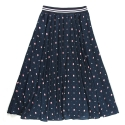 언티지 UWS 02 pixel teddy peasant skirt_navy