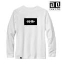 디씬 [3+1][DISCENE]디씬 LINE D 긴팔티셔츠- WHITE