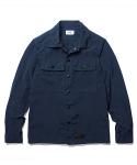 Garment Dyeing 2 Pocket Shirt Jacket Navy