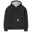 칼하트WIP LIGHT LUX HOODED JACKET BLACK/GREY HEATHER