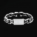 Bracelet Logo medium Platinum